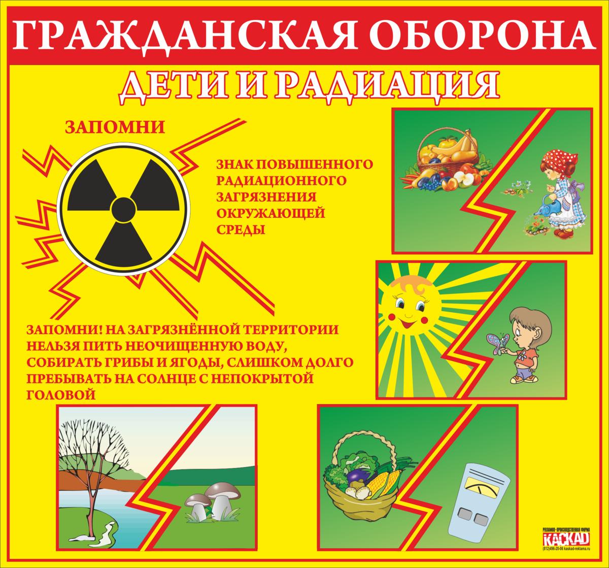 Плакат. Дети и радиация